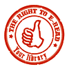 the right to e-read Logo / © The right to e-read your library
